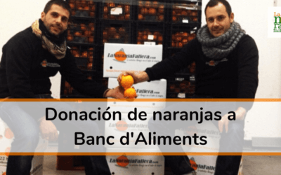 Donación de naranjas a Banc d'Aliments